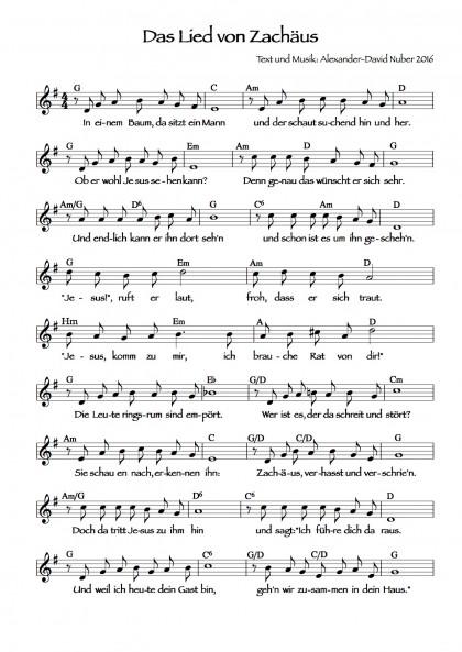 Das Lied von Zachäus (1)