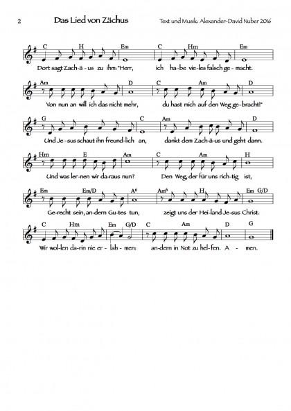 Das Lied von Zachäus (2)