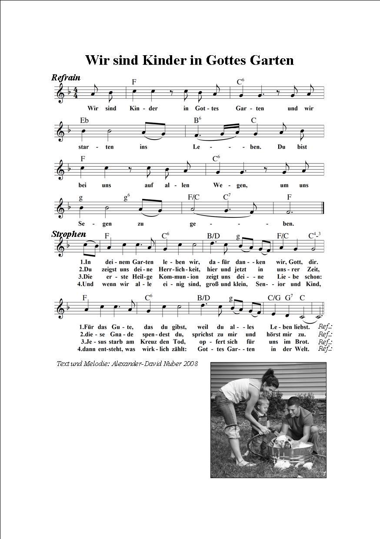 singt ein lied von gott text