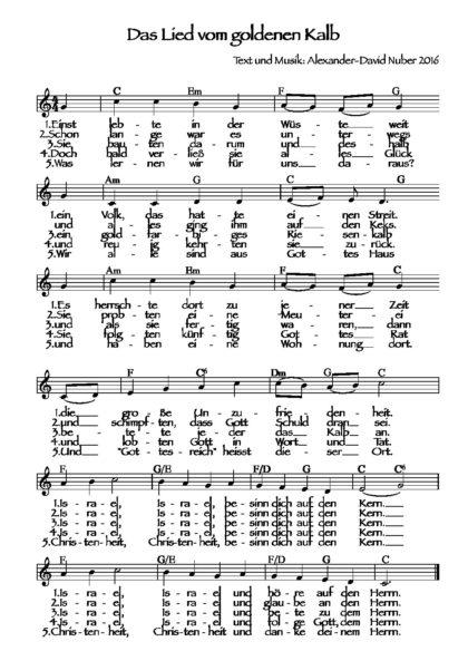 Das Lied vom goldenen Kalb