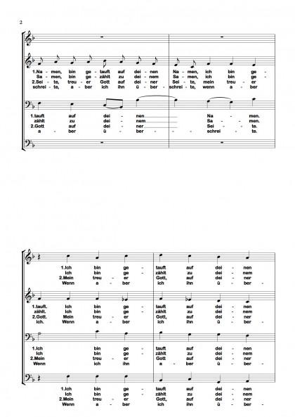 Ich bin getauft - Chormotette (2)