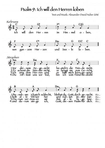 Psalm 9: Ich will den Herren loben