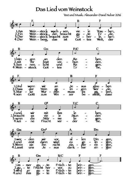 Das Lied vom Weinstock